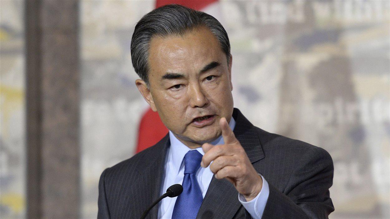 Le ministre chinois des Affaires étrangères Wang Yi.