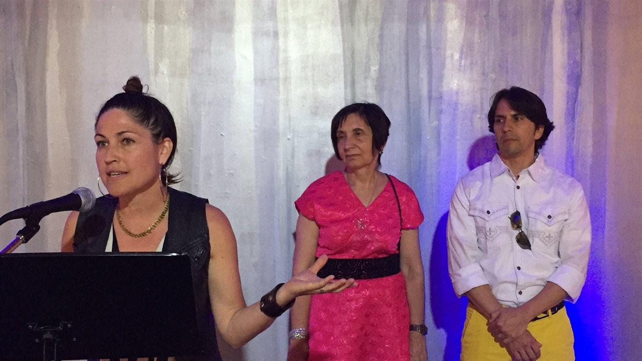 Veronique Doucet et les membres du jury de la BIAM.