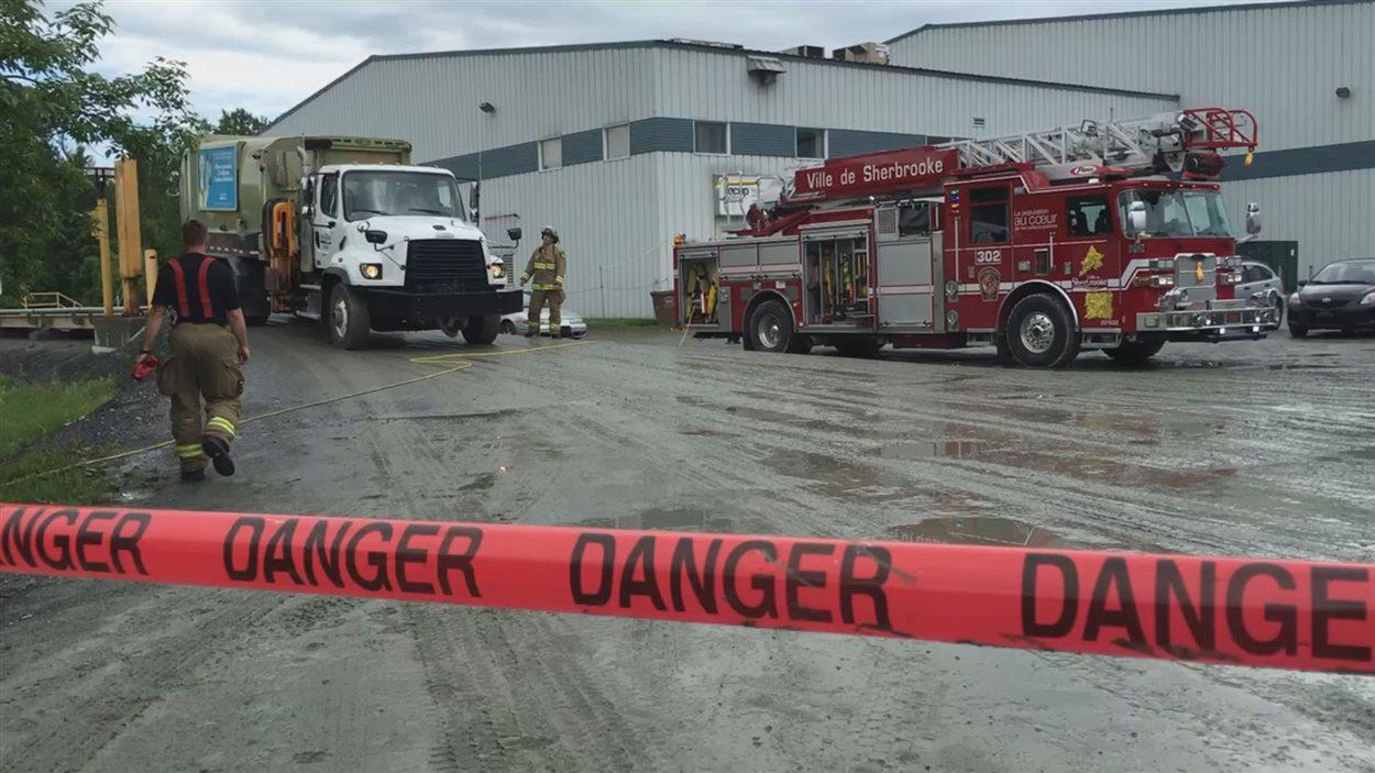 Évacuation au Centre de tri de Sherbrooke