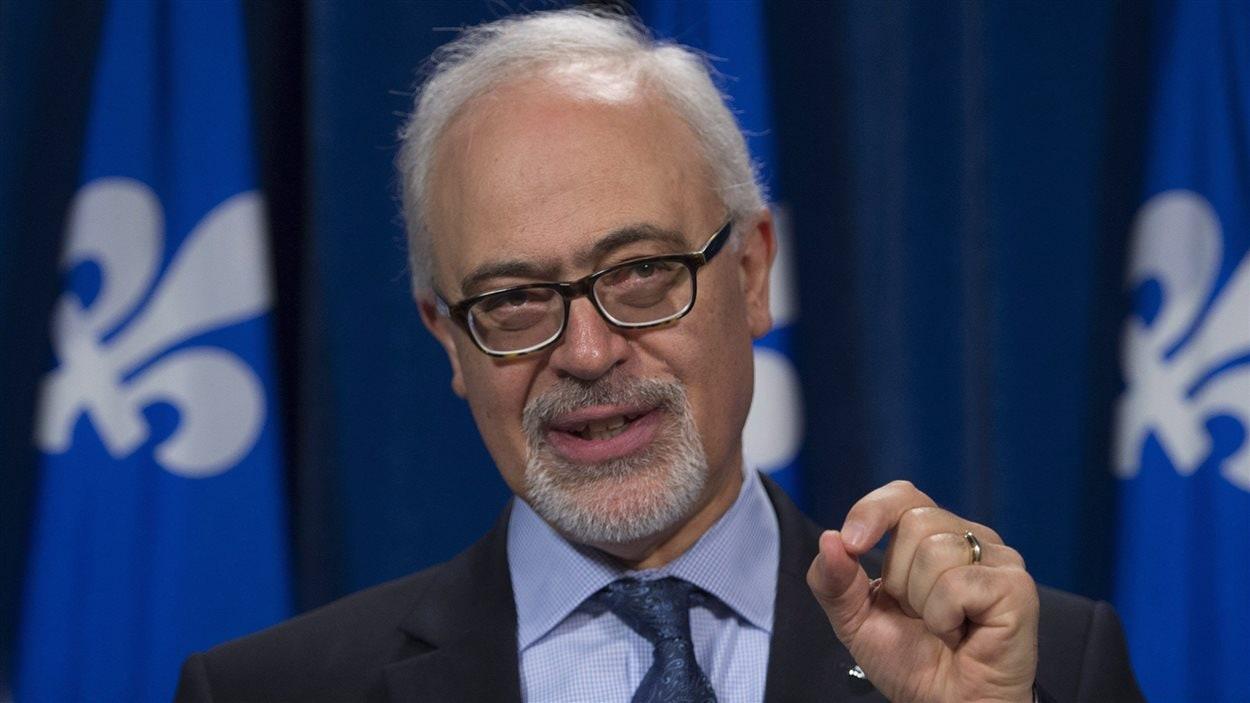 Le président du Conseil du Trésor et ministre des Finances, Carlos Leitao