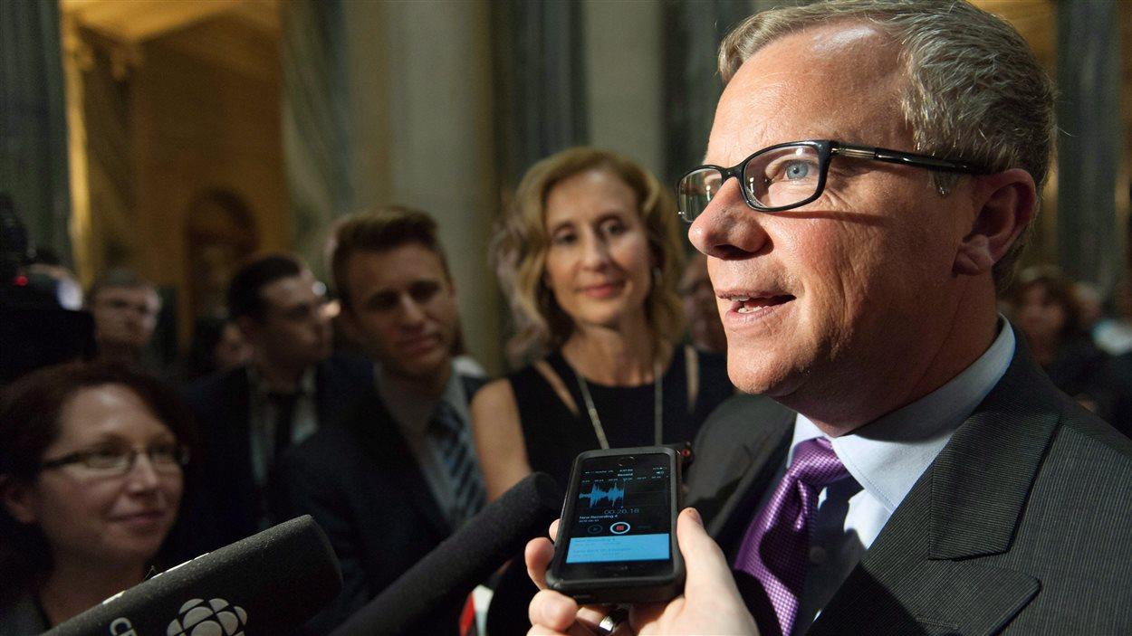 Brad Wall, premier ministre de la Saskatchewan.