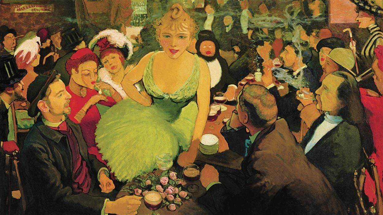 Une toile inédite de Louis Anquetin présentée au Musée des beaux-arts de Montréal à l'occasion de l'exposition consacrée à Toulouse-Lautrec