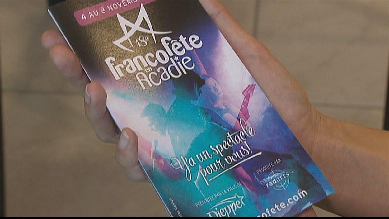 Dépliant de la 18e édition de Francofête en Acadie