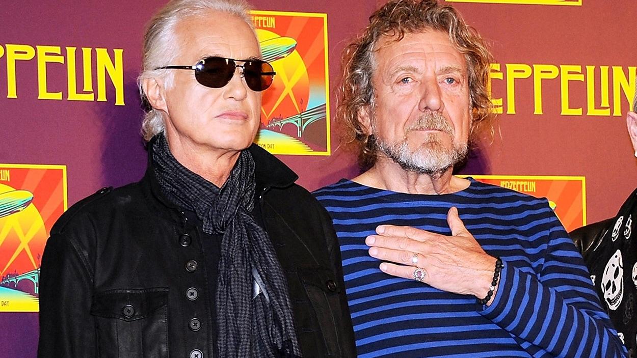 Jimmy Page et Robert Plant de Led Zeppelin en 2012