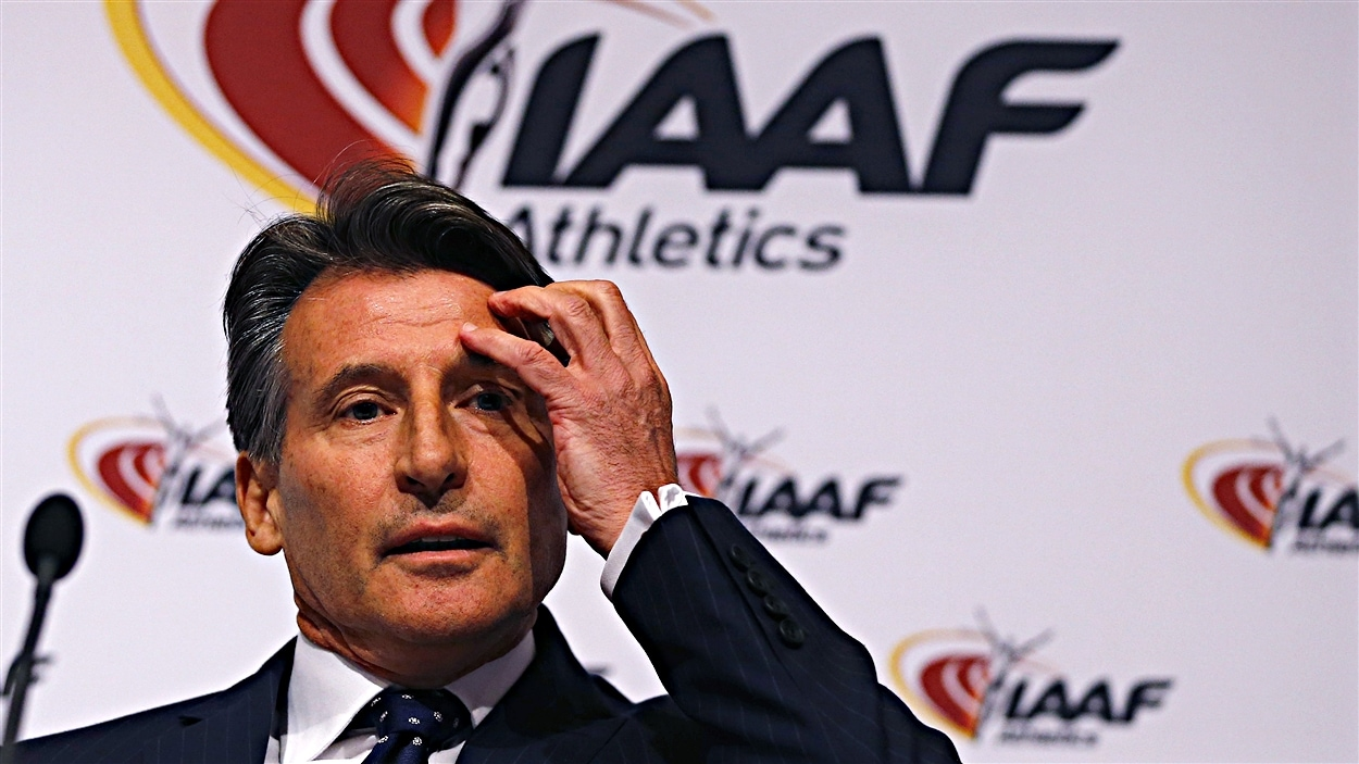 Le président de l'IAAF, Sebastian Coe