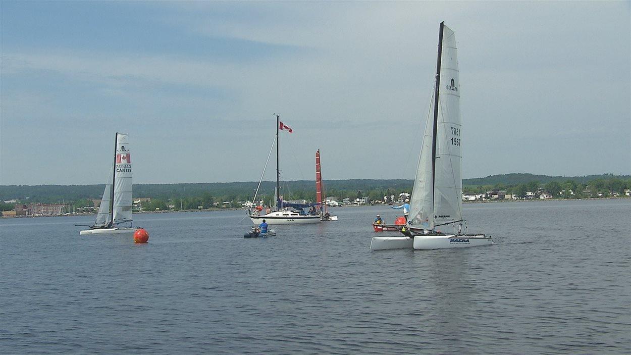 Course de catamarans