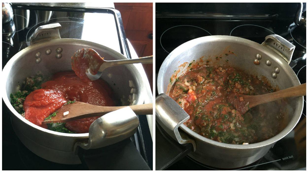 Ajouter la tomate
