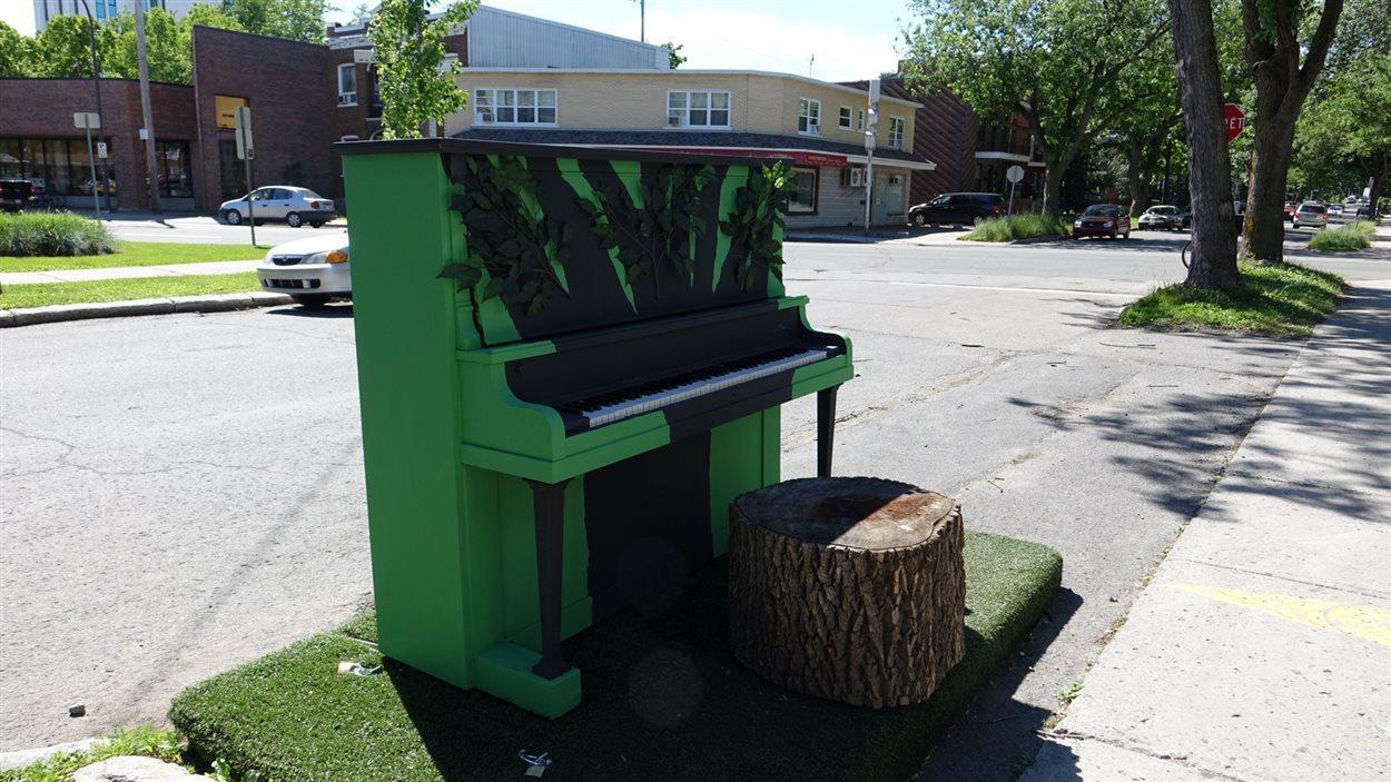 Le piano vert fait son apparition dans le secteur Maizerets, rue Maufils.