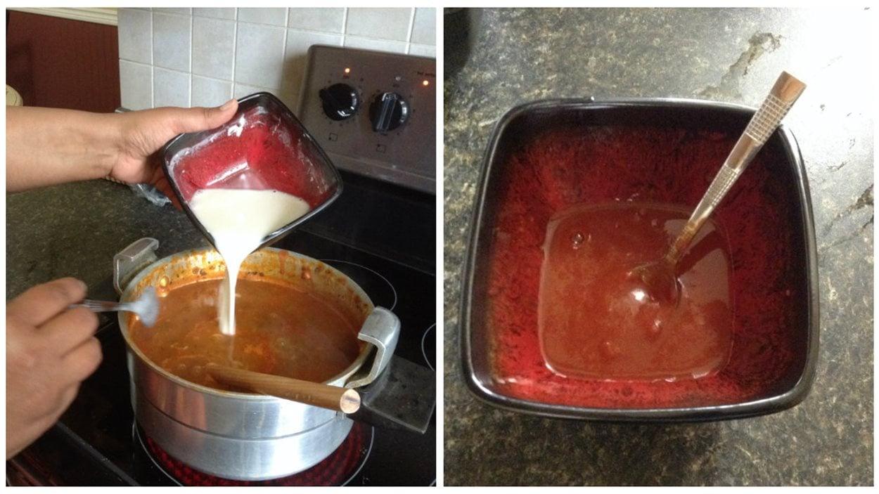Farine et pâte de tomates