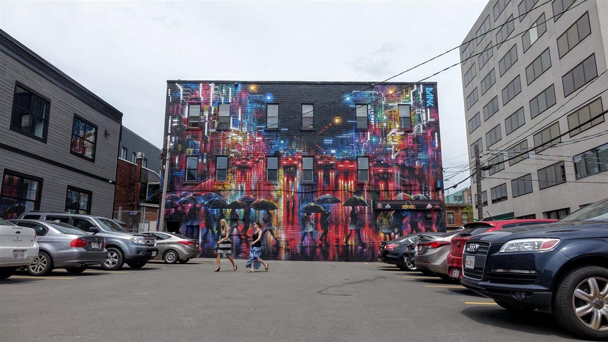 La fresque Tokyo Candles de Dan Kitchener au centre-ville de Moncton