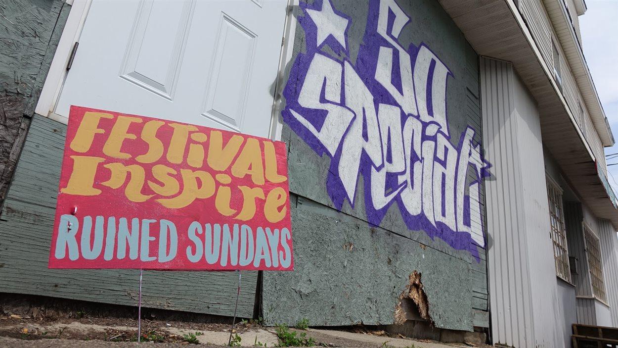 La fresque de Ruined Sundays sur la rue St-George à Moncton