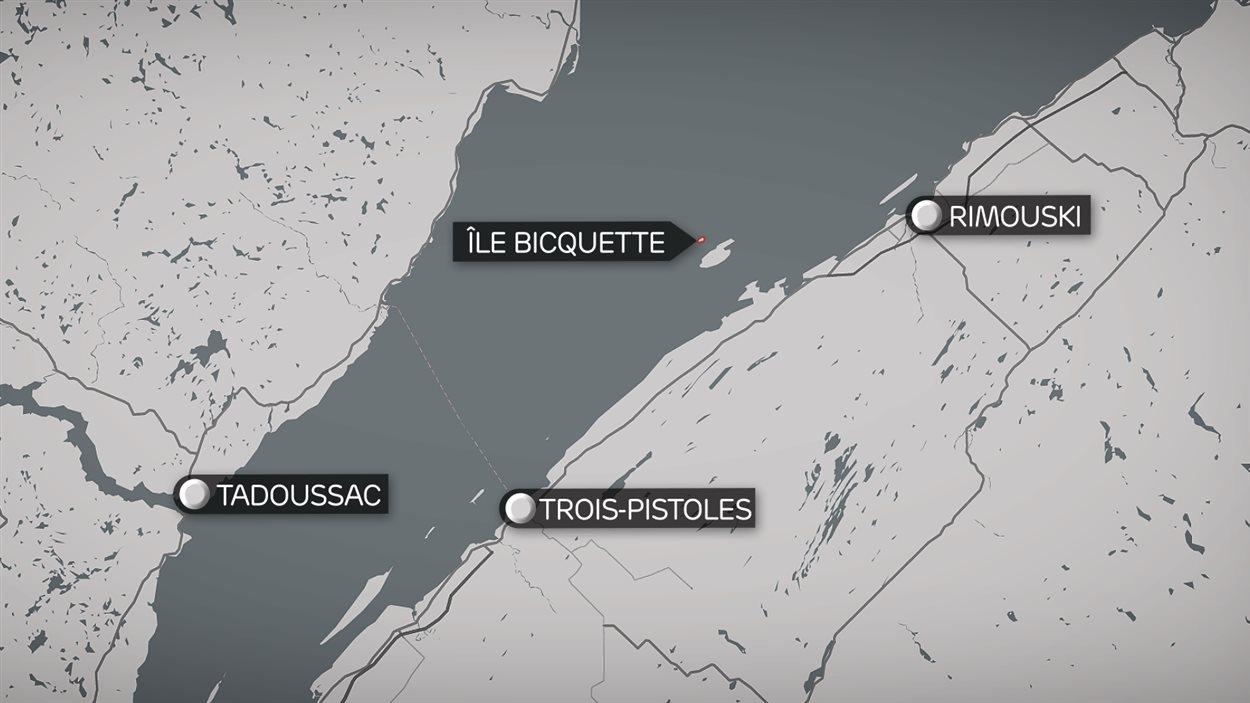L'île Bicquette est située au large du parc national du Bic, dans le Bas-Saint-Laurent