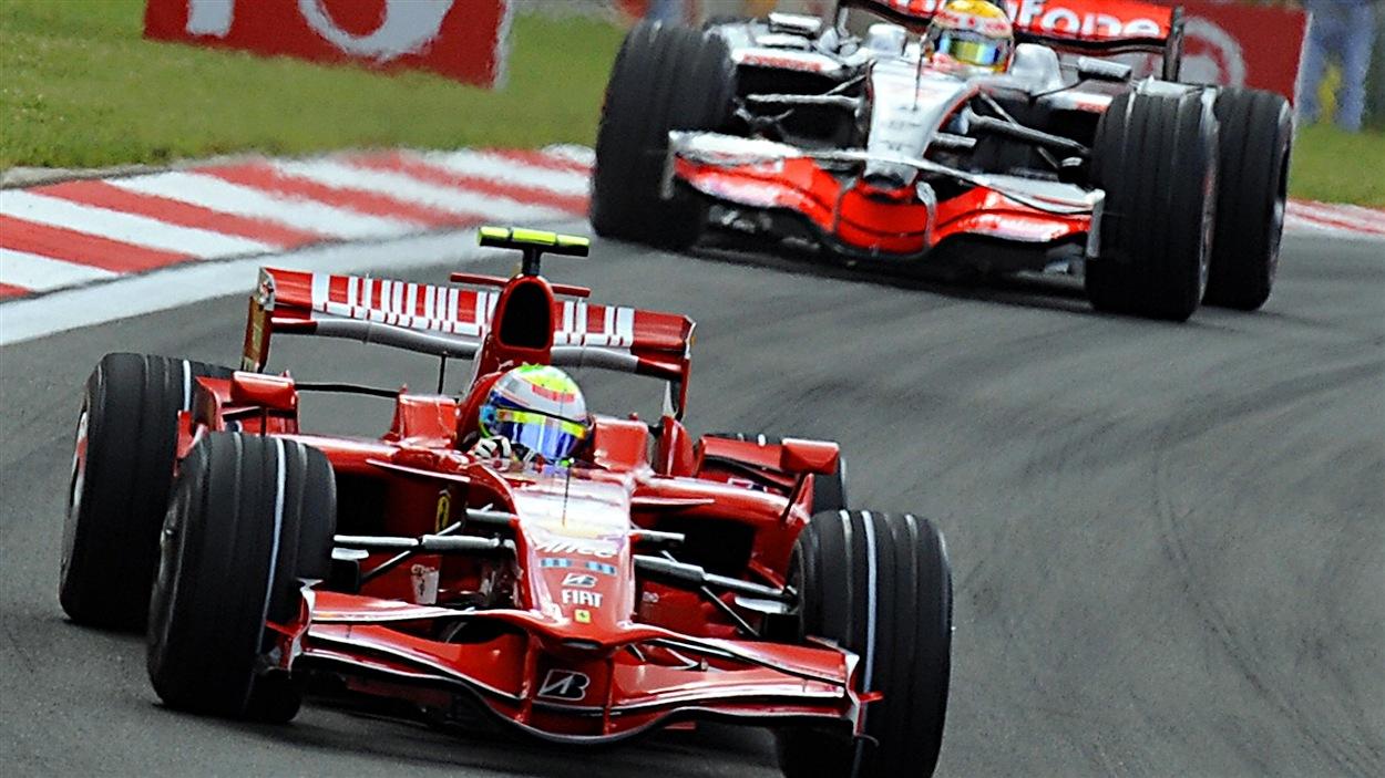 Felipe Massa et Lewis Hamilton en Turquie