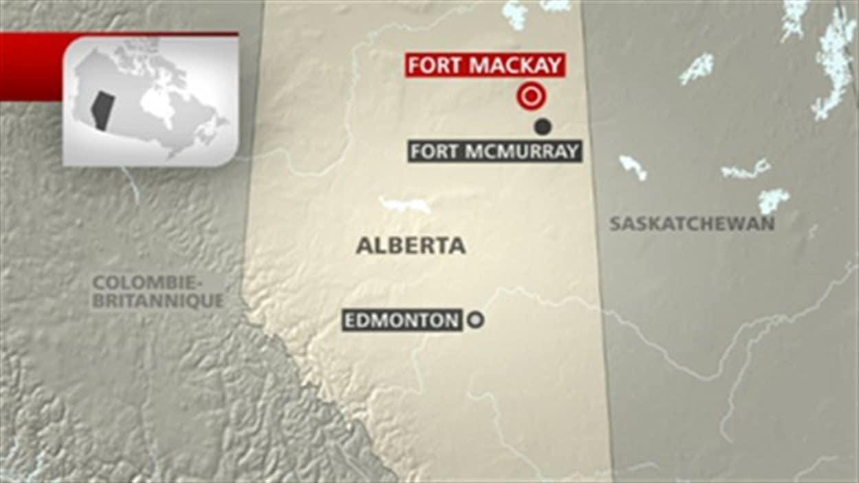 carte de fort mckay