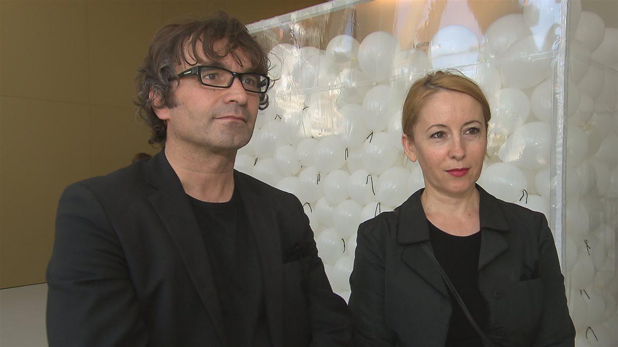 Les artistes Flutura et Besnik Haxhillari