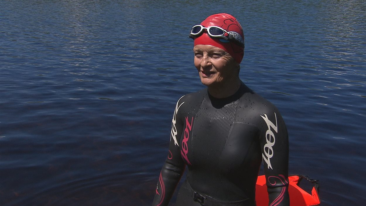 Renée Tremblay de Shawinigan au triathlon.