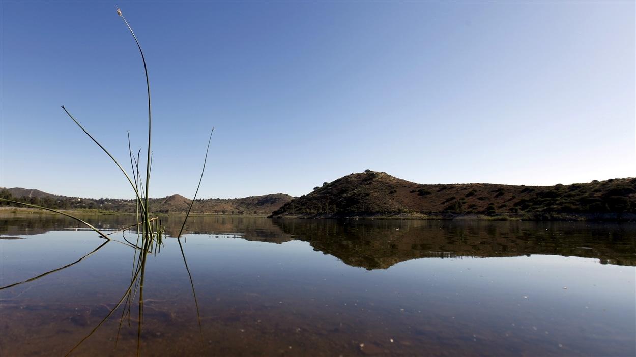 Des scientifiques de l'Université de Stanford ont découvert une manne d'eau trois fois plus importante qu'estimée dans le sous-sol de la Californie. Ici, le lac Hodges près de San Diego.