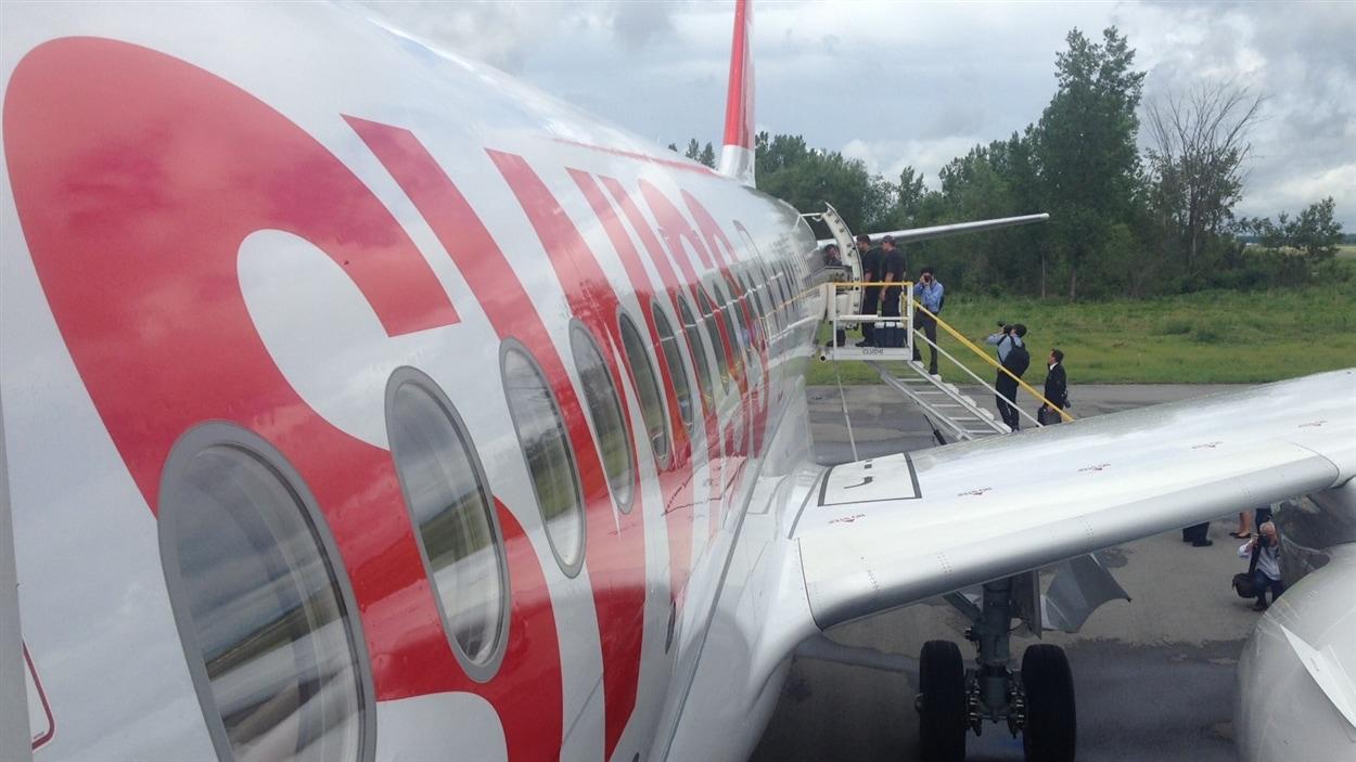 Bombardier livre son premier appareil de la C Series à Swiss