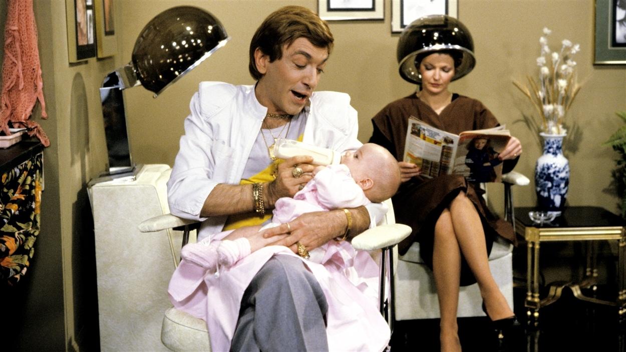 André Montmorency dans la peau de Christian Lalancette, célèbre personnage de « Chez Denise » en 1981.