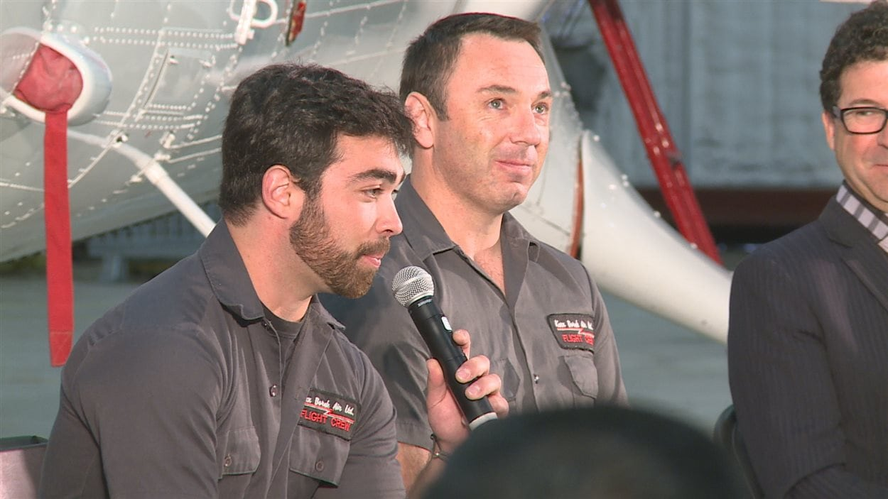 Le pilote Wally Dobchuk et le copilote Sébastien Trudel racontent leur opération de sauvetage en Antarctique.