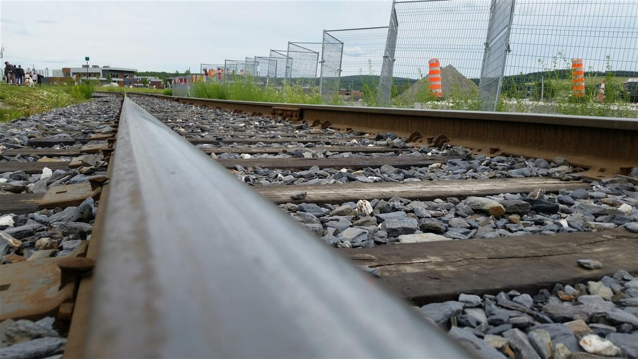 Une voie ferrée à Lac-Mégantic