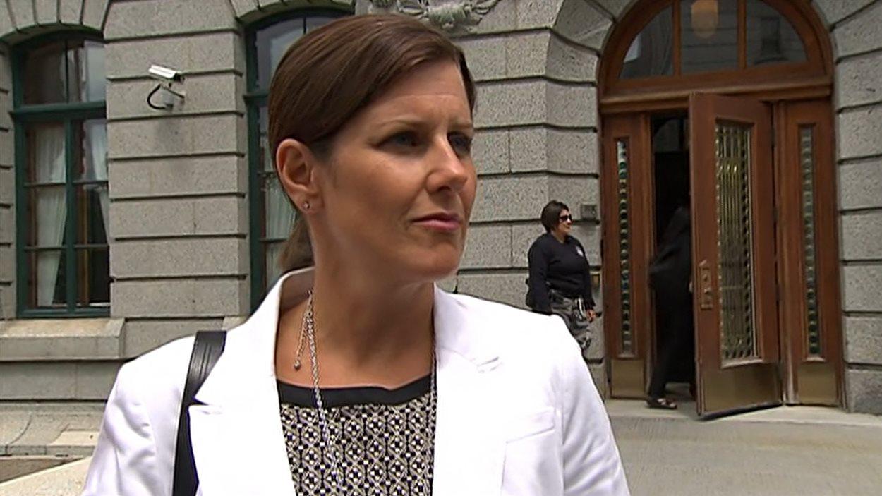 La ministre de la Justice du Québec, Stéphanie Vallée, responsable de l'application des lois professionnelles