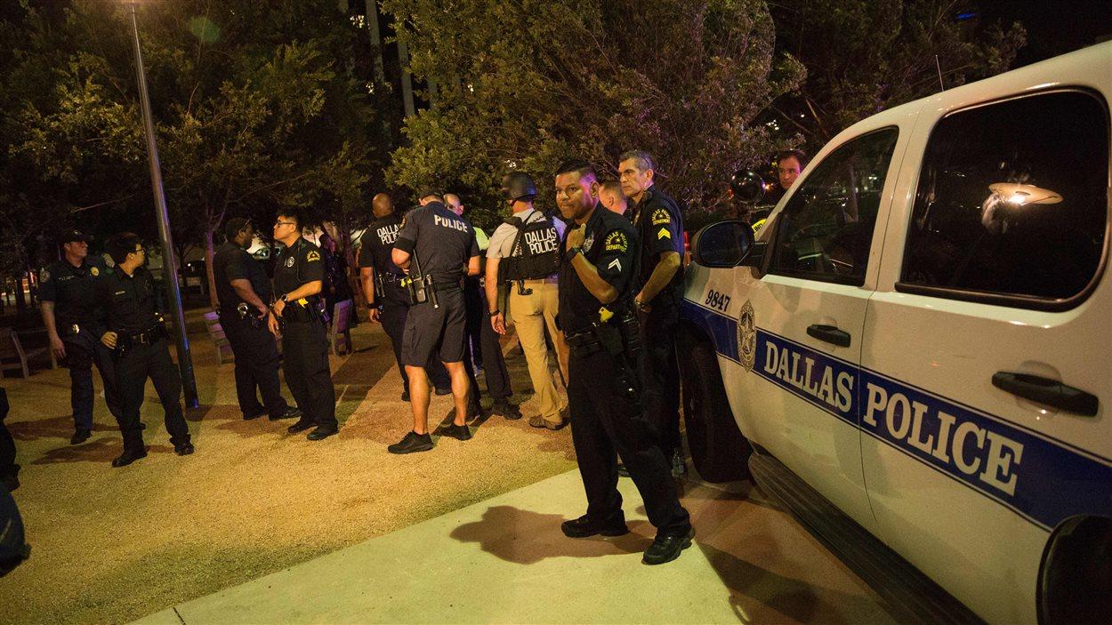 La fusillade a éclaté en marge d'un rassemblement à Dallas, au Texas.