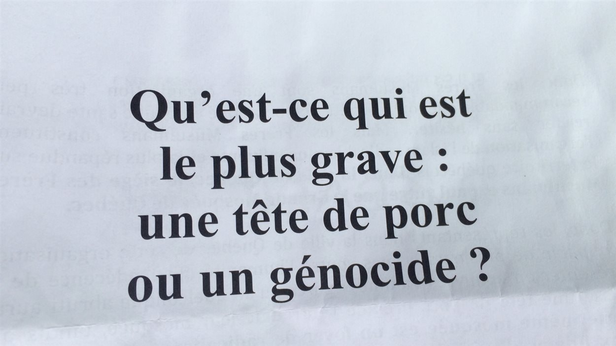 La lettre islamophobe a été distribuée dans des boîtes aux lettres de Sainte-Foy.
