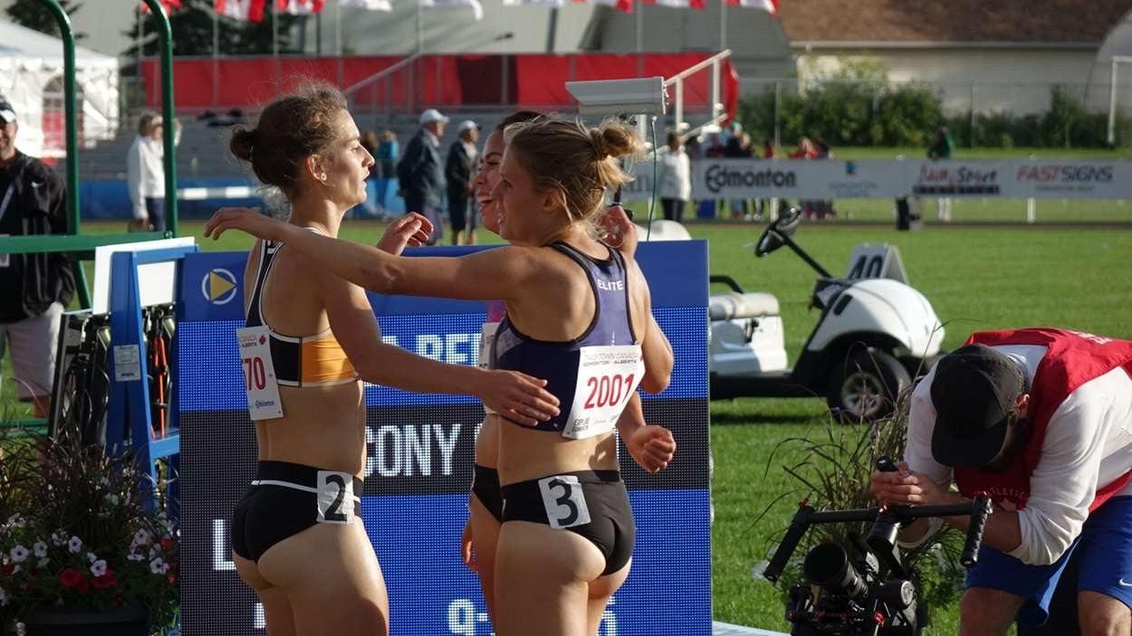 Geneviève Lalonde a monté sur le podium au 3000m steeple à Edmonton.