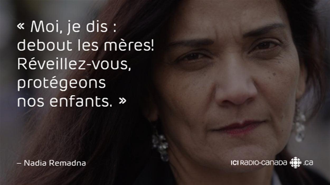 Nadia Remadna, fondatrice de la Brigade des mères