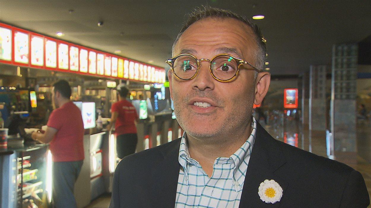 Vincent Guzzo, président de l'Association des propriétaires de cinémas du Québec