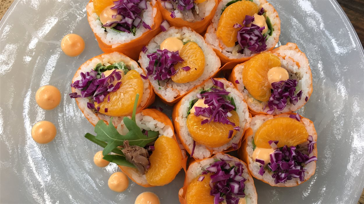 Maki de printemps au canard confit à l'orange