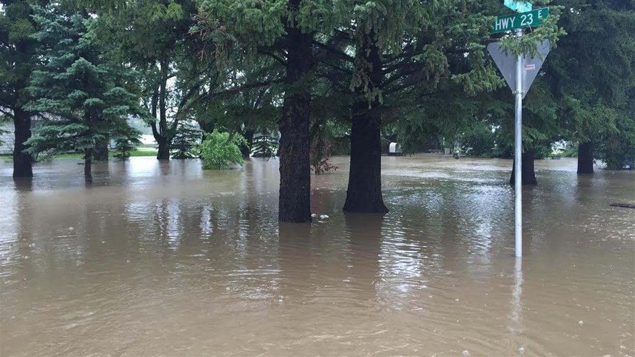 Les inondations à Arborfield.