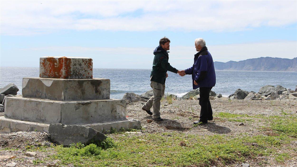 Tournage du documentaire à Cap-des-Rosiers