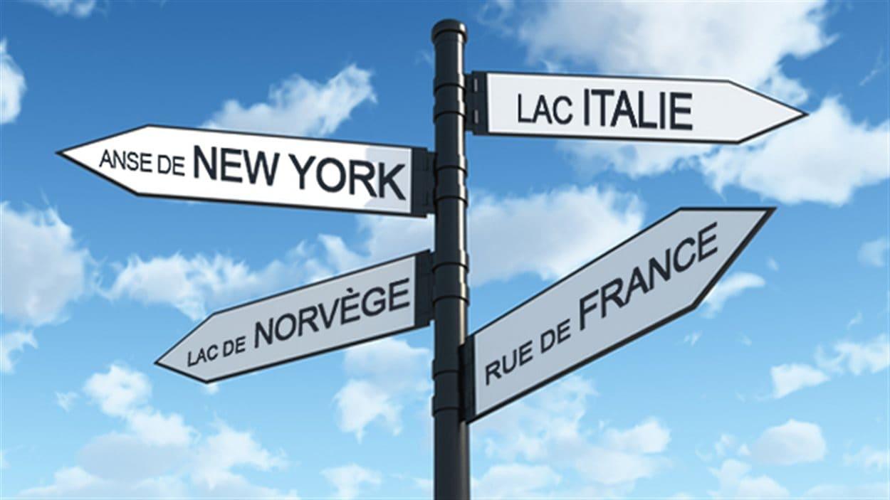 Plusieurs lieux du Québec portent des noms empruntés à des villes ou à des pays étangers