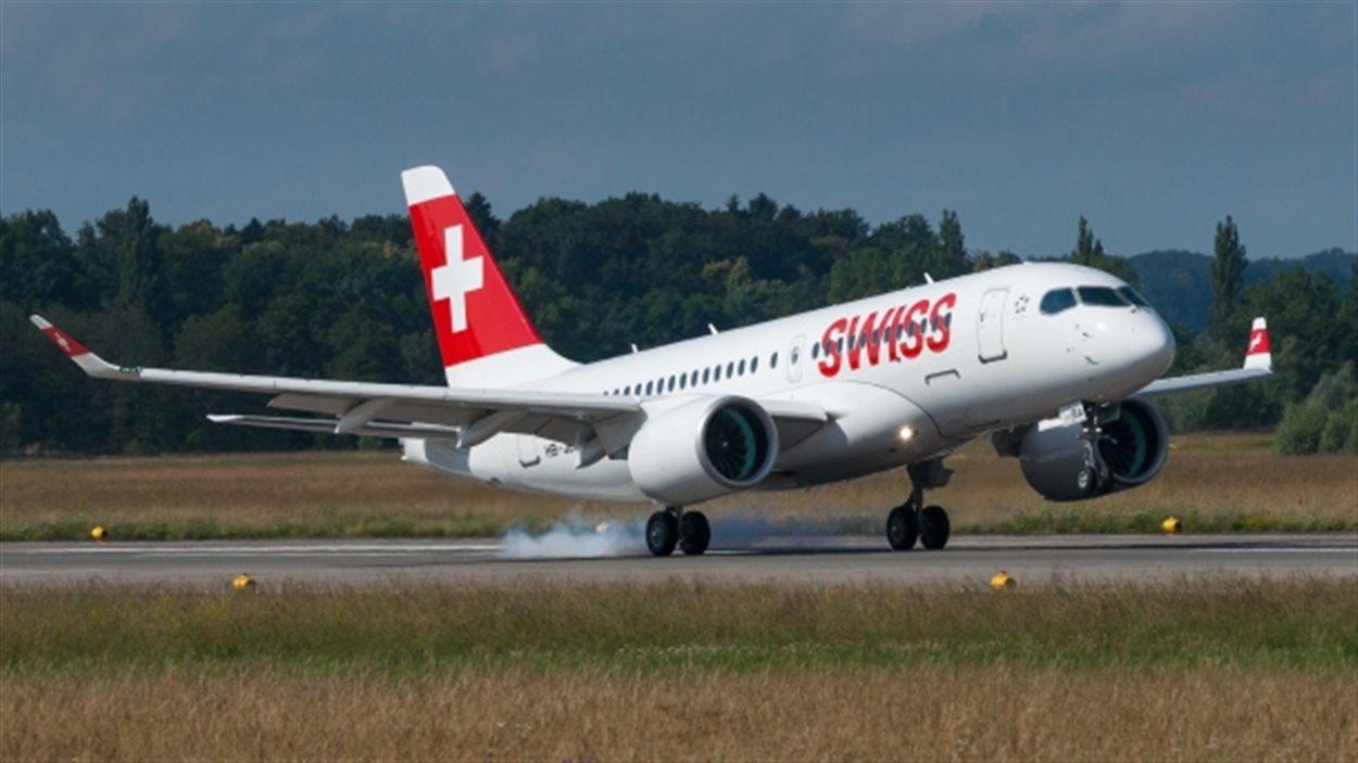 Le vol Swiss 638 au moment de son atterrissage à l'aéroport Charles-de-Gaulle.