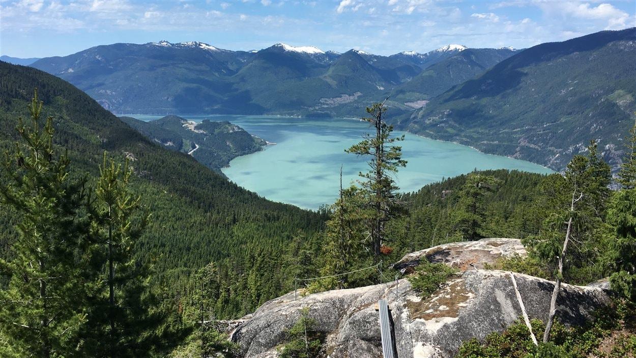 La vue sur la Baie Howe à partir de la Via Ferrata est impressionnante