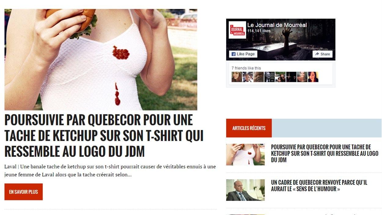 Le site du Journal de Mourréal, le mardi 19 juillet 2016