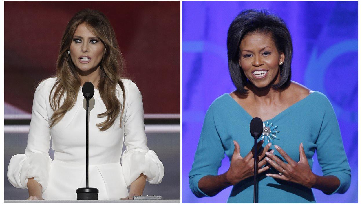 Melania Trump et Michelle Obama ont toutes deux prononcé un discours en appui à la nomination de leur mari à leur parti respectif.