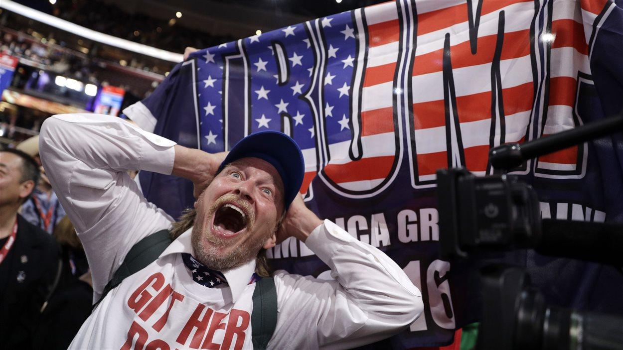 Un délégué de New York à la convention républicaine
