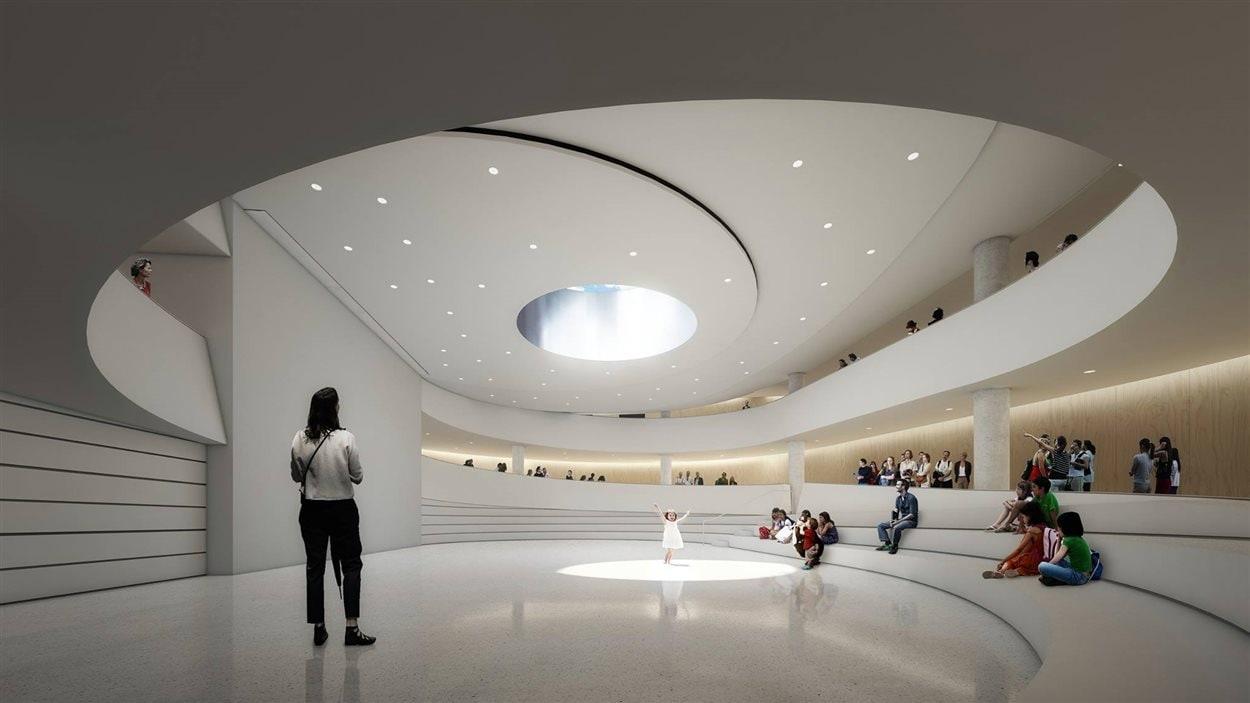 L'agora du nouveau pavillon souterrain de l'Assemblée nationale