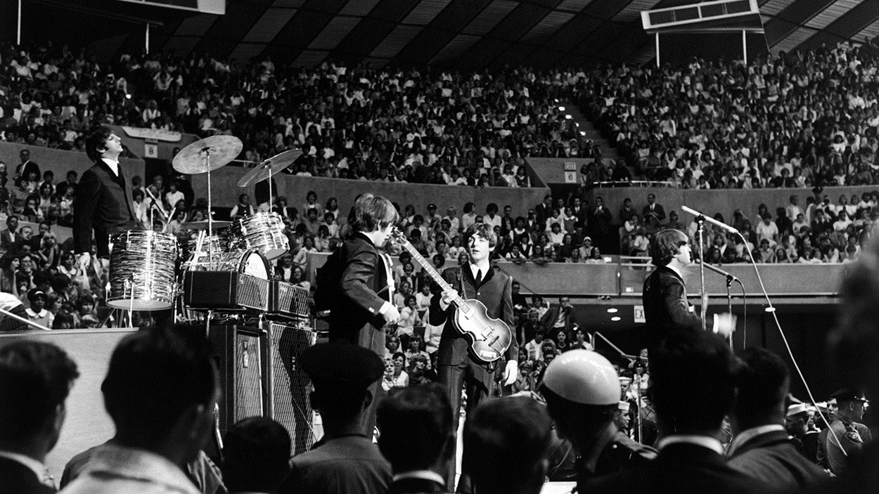 Les Beatles en concert aux États-Unis le 1er août 1964