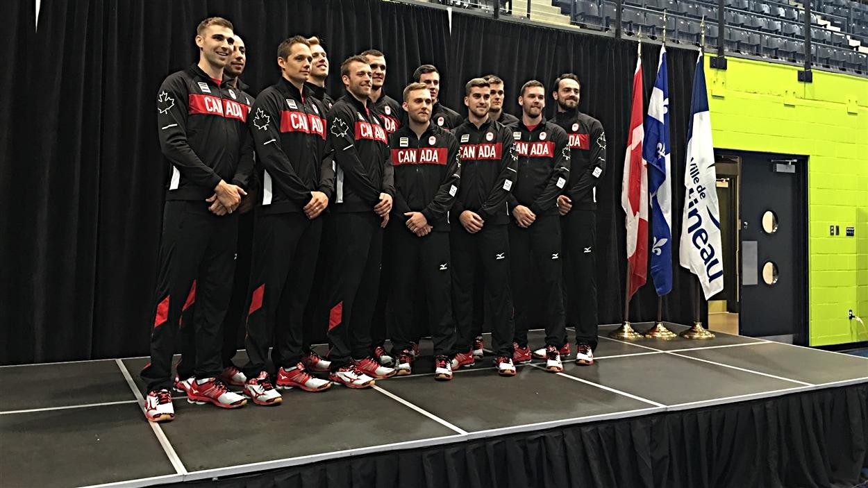 L'équipe canadienne de volleyball masculin pour les Jeux olympiques de Rio.