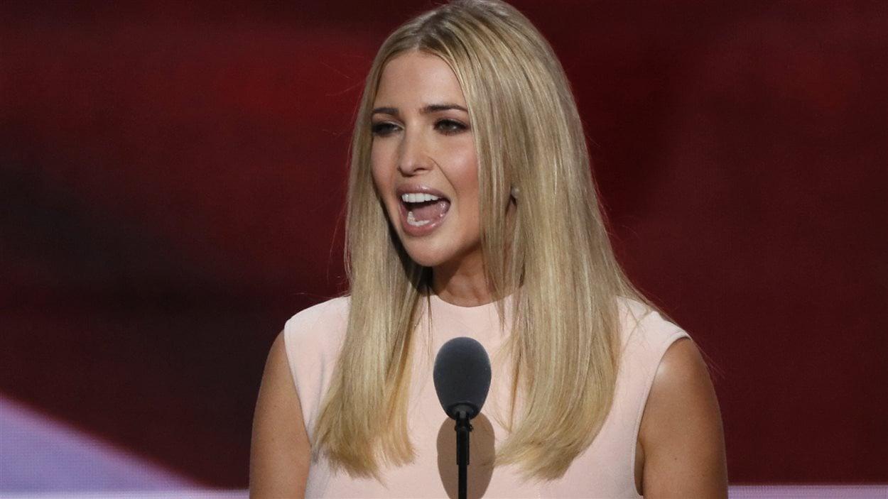 Ivanka Trump, fille du candidat républicain à la présidentielle américaine Donald Trump, s'exprime durant la convention nationale républicaine à Cleveland, en Ohio, le 21 juillet 2016.