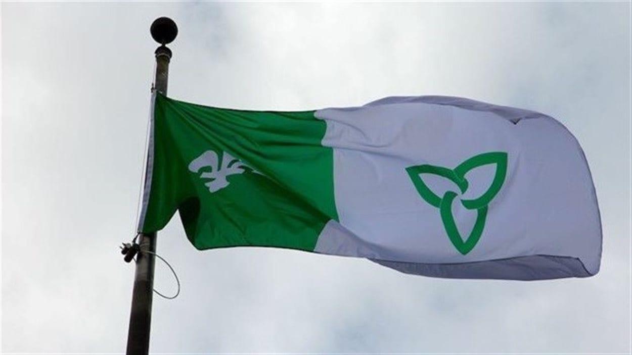 Le drapeau franco-ontarien pourrait bientôt flotter en permanence à Sarnia (archives)