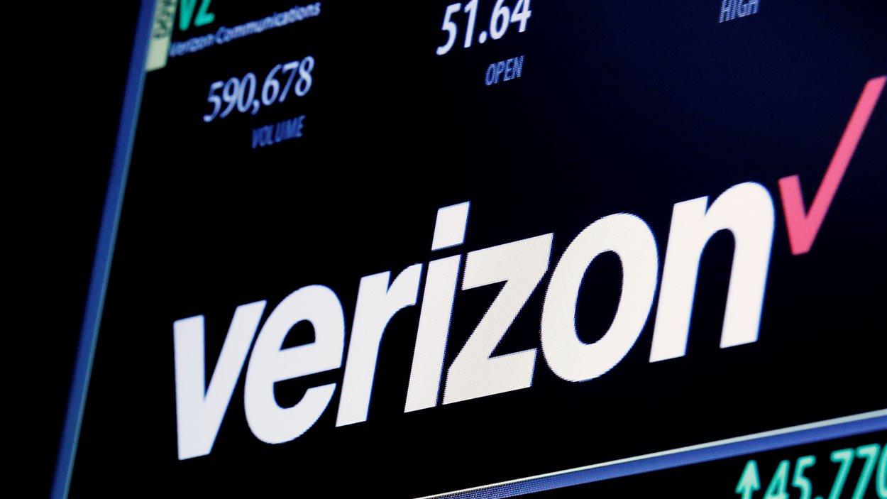Les informations boursières de Verizon à la Bourse de New York, le 9 juin 2016.