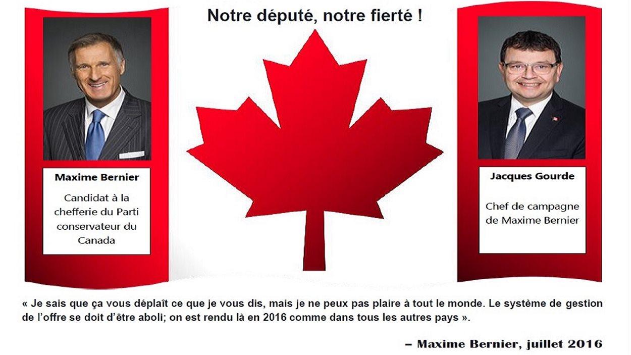 Le tract envoyé aux agriculteurs de la circonscription de Lévis-Lotbinière.