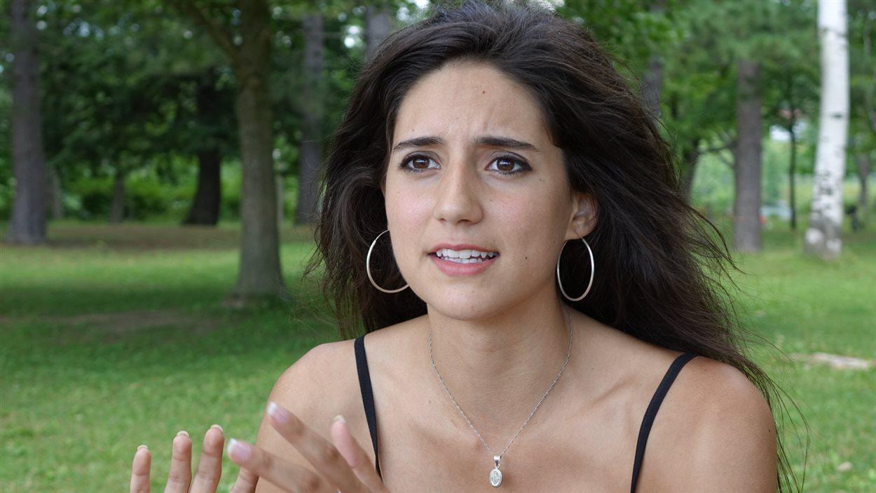 Mélanie Lemay, dans un parc de Sherbrooke