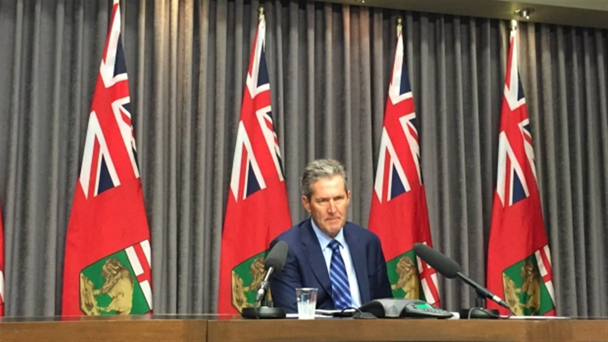 Le premier ministre du Manitoba, Brian Pallister.