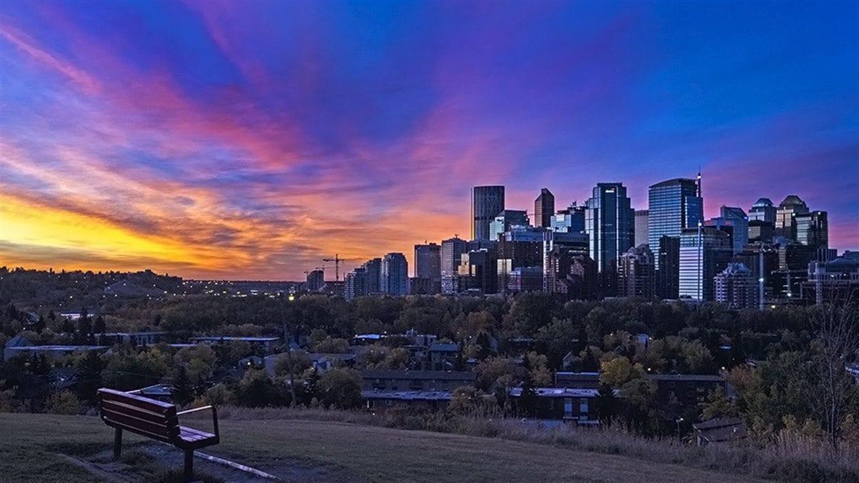 La ville de Calgary en Alberta.